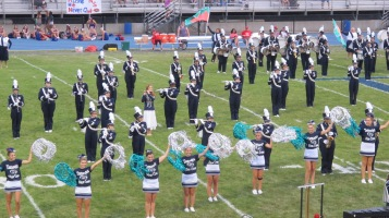 Blue Out Football Game, Benefit for Thelma Urban, Raider Band, Sports Stadium, Tamaqua, 9-4-2015 (199)