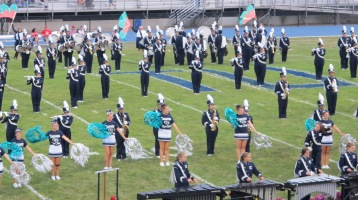 Blue Out Football Game, Benefit for Thelma Urban, Raider Band, Sports Stadium, Tamaqua, 9-4-2015 (200)