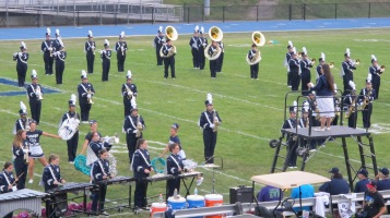 Blue Out Football Game, Benefit for Thelma Urban, Raider Band, Sports Stadium, Tamaqua, 9-4-2015 (201)