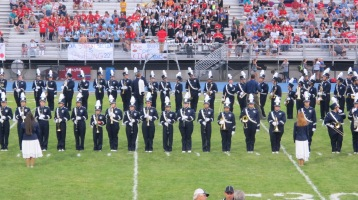 Blue Out Football Game, Benefit for Thelma Urban, Raider Band, Sports Stadium, Tamaqua, 9-4-2015 (206)