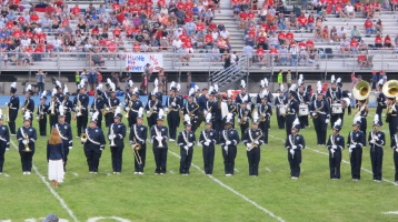 Blue Out Football Game, Benefit for Thelma Urban, Raider Band, Sports Stadium, Tamaqua, 9-4-2015 (208)