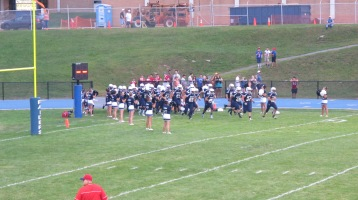 Blue Out Football Game, Benefit for Thelma Urban, Raider Band, Sports Stadium, Tamaqua, 9-4-2015 (215)