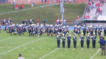 Blue Out Football Game, Benefit for Thelma Urban, Raider Band, Sports Stadium, Tamaqua, 9-4-2015 (216)