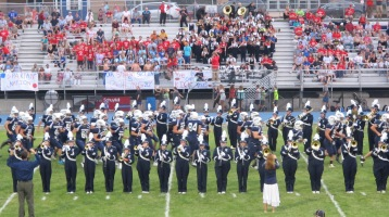 Blue Out Football Game, Benefit for Thelma Urban, Raider Band, Sports Stadium, Tamaqua, 9-4-2015 (217)