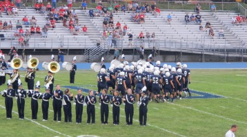 Blue Out Football Game, Benefit for Thelma Urban, Raider Band, Sports Stadium, Tamaqua, 9-4-2015 (219)