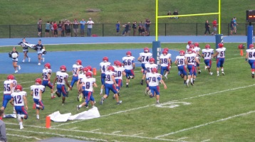 Blue Out Football Game, Benefit for Thelma Urban, Raider Band, Sports Stadium, Tamaqua, 9-4-2015 (221)