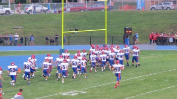 Blue Out Football Game, Benefit for Thelma Urban, Raider Band, Sports Stadium, Tamaqua, 9-4-2015 (222)