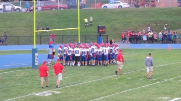 Blue Out Football Game, Benefit for Thelma Urban, Raider Band, Sports Stadium, Tamaqua, 9-4-2015 (225)