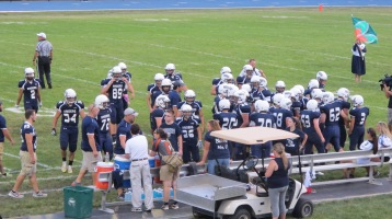 Blue Out Football Game, Benefit for Thelma Urban, Raider Band, Sports Stadium, Tamaqua, 9-4-2015 (227)