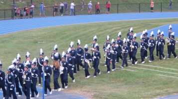 Blue Out Football Game, Benefit for Thelma Urban, Raider Band, Sports Stadium, Tamaqua, 9-4-2015 (236)