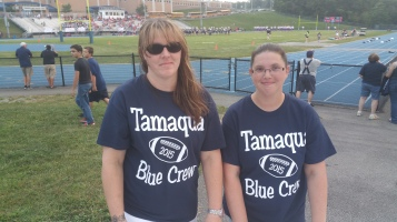 Blue Out Football Game, Benefit for Thelma Urban, Raider Band, Sports Stadium, Tamaqua, 9-4-2015 (24)