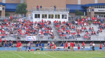 Blue Out Football Game, Benefit for Thelma Urban, Raider Band, Sports Stadium, Tamaqua, 9-4-2015 (240)