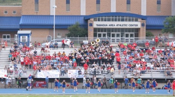 Blue Out Football Game, Benefit for Thelma Urban, Raider Band, Sports Stadium, Tamaqua, 9-4-2015 (242)