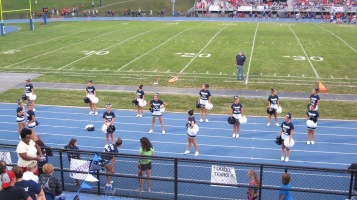 Blue Out Football Game, Benefit for Thelma Urban, Raider Band, Sports Stadium, Tamaqua, 9-4-2015 (243)