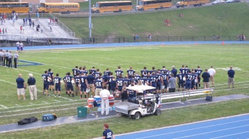 Blue Out Football Game, Benefit for Thelma Urban, Raider Band, Sports Stadium, Tamaqua, 9-4-2015 (244)