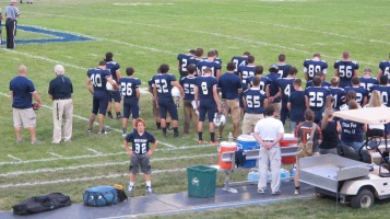 Blue Out Football Game, Benefit for Thelma Urban, Raider Band, Sports Stadium, Tamaqua, 9-4-2015 (246)