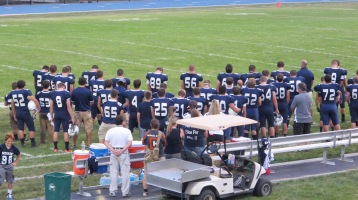Blue Out Football Game, Benefit for Thelma Urban, Raider Band, Sports Stadium, Tamaqua, 9-4-2015 (247)