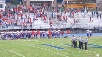Blue Out Football Game, Benefit for Thelma Urban, Raider Band, Sports Stadium, Tamaqua, 9-4-2015 (249)