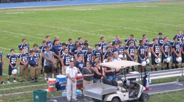Blue Out Football Game, Benefit for Thelma Urban, Raider Band, Sports Stadium, Tamaqua, 9-4-2015 (255)