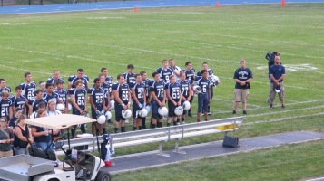 Blue Out Football Game, Benefit for Thelma Urban, Raider Band, Sports Stadium, Tamaqua, 9-4-2015 (256)
