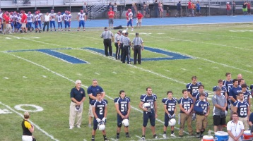 Blue Out Football Game, Benefit for Thelma Urban, Raider Band, Sports Stadium, Tamaqua, 9-4-2015 (257)