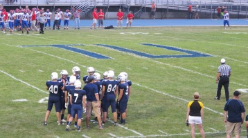 Blue Out Football Game, Benefit for Thelma Urban, Raider Band, Sports Stadium, Tamaqua, 9-4-2015 (265)