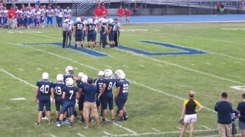 Blue Out Football Game, Benefit for Thelma Urban, Raider Band, Sports Stadium, Tamaqua, 9-4-2015 (268)
