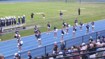 Blue Out Football Game, Benefit for Thelma Urban, Raider Band, Sports Stadium, Tamaqua, 9-4-2015 (275)