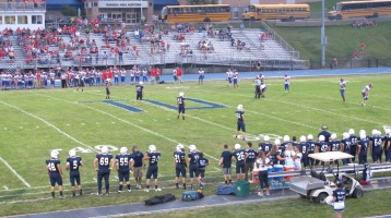 Blue Out Football Game, Benefit for Thelma Urban, Raider Band, Sports Stadium, Tamaqua, 9-4-2015 (276)