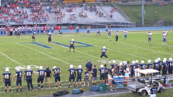 Blue Out Football Game, Benefit for Thelma Urban, Raider Band, Sports Stadium, Tamaqua, 9-4-2015 (277)
