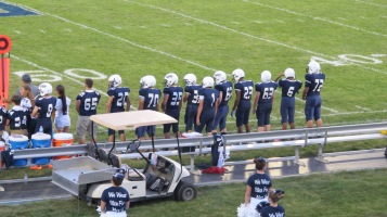 Blue Out Football Game, Benefit for Thelma Urban, Raider Band, Sports Stadium, Tamaqua, 9-4-2015 (281)