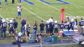 Blue Out Football Game, Benefit for Thelma Urban, Raider Band, Sports Stadium, Tamaqua, 9-4-2015 (282)