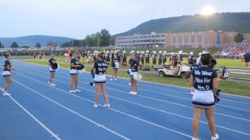 Blue Out Football Game, Benefit for Thelma Urban, Raider Band, Sports Stadium, Tamaqua, 9-4-2015 (300)