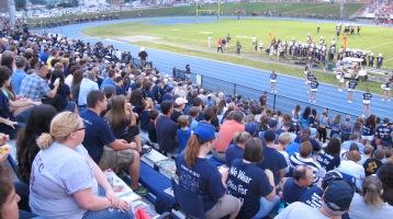 Blue Out Football Game, Benefit for Thelma Urban, Raider Band, Sports Stadium, Tamaqua, 9-4-2015 (304)