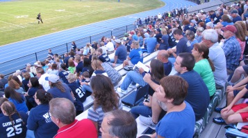 Blue Out Football Game, Benefit for Thelma Urban, Raider Band, Sports Stadium, Tamaqua, 9-4-2015 (305)