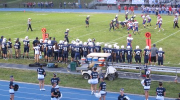 Blue Out Football Game, Benefit for Thelma Urban, Raider Band, Sports Stadium, Tamaqua, 9-4-2015 (306)