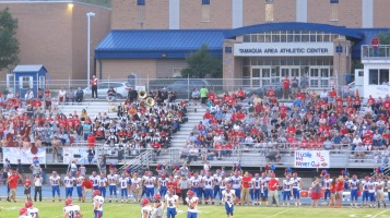 Blue Out Football Game, Benefit for Thelma Urban, Raider Band, Sports Stadium, Tamaqua, 9-4-2015 (314)