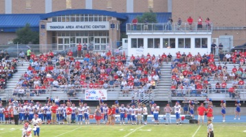 Blue Out Football Game, Benefit for Thelma Urban, Raider Band, Sports Stadium, Tamaqua, 9-4-2015 (315)