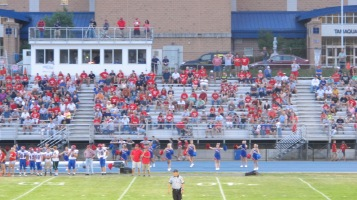 Blue Out Football Game, Benefit for Thelma Urban, Raider Band, Sports Stadium, Tamaqua, 9-4-2015 (316)