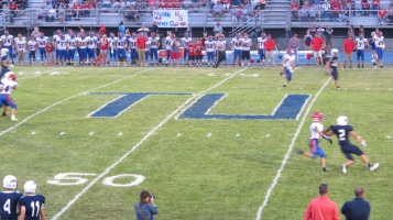 Blue Out Football Game, Benefit for Thelma Urban, Raider Band, Sports Stadium, Tamaqua, 9-4-2015 (324)