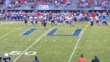 Blue Out Football Game, Benefit for Thelma Urban, Raider Band, Sports Stadium, Tamaqua, 9-4-2015 (326)