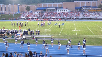 Blue Out Football Game, Benefit for Thelma Urban, Raider Band, Sports Stadium, Tamaqua, 9-4-2015 (329)
