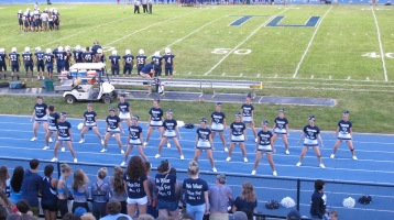 Blue Out Football Game, Benefit for Thelma Urban, Raider Band, Sports Stadium, Tamaqua, 9-4-2015 (336)