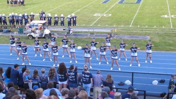 Blue Out Football Game, Benefit for Thelma Urban, Raider Band, Sports Stadium, Tamaqua, 9-4-2015 (337)