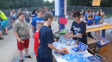 Blue Out Football Game, Benefit for Thelma Urban, Raider Band, Sports Stadium, Tamaqua, 9-4-2015 (338)