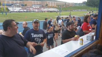 Blue Out Football Game, Benefit for Thelma Urban, Raider Band, Sports Stadium, Tamaqua, 9-4-2015 (35)