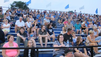 Blue Out Football Game, Benefit for Thelma Urban, Raider Band, Sports Stadium, Tamaqua, 9-4-2015 (357)