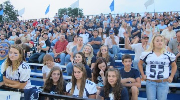 Blue Out Football Game, Benefit for Thelma Urban, Raider Band, Sports Stadium, Tamaqua, 9-4-2015 (364)