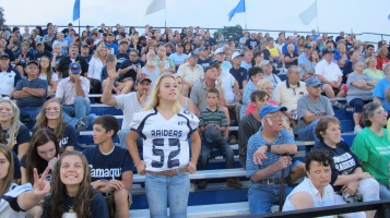 Blue Out Football Game, Benefit for Thelma Urban, Raider Band, Sports Stadium, Tamaqua, 9-4-2015 (365)