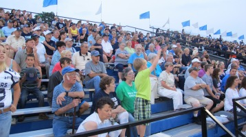 Blue Out Football Game, Benefit for Thelma Urban, Raider Band, Sports Stadium, Tamaqua, 9-4-2015 (366)